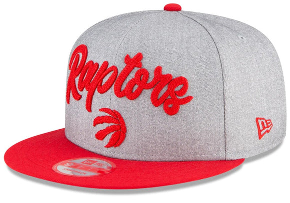 Men's Toronto Raptors New Era Heather Gray 2020 NBA Draft Official On-Stage 9FIFTY Snapback Adjustable Hat