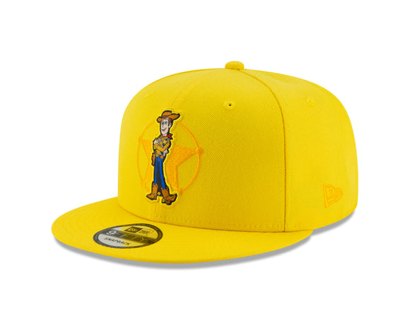 Disney Pixar's Toy Story Woody Cyber Yellow 9Fifty Snapback Cap Hat Movie Film - Bleacher Bum Collectibles, Toronto Blue Jays, NHL , MLB, Toronto Maple Leafs, Hat, Cap, Jersey, Hoodie, T Shirt, NFL, NBA, Toronto Raptors