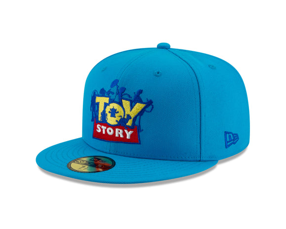 Disney Pixar's Toy Story Andy Powder Blue 59Fifty Fitted Cap Hat Movie Film - Bleacher Bum Collectibles, Toronto Blue Jays, NHL , MLB, Toronto Maple Leafs, Hat, Cap, Jersey, Hoodie, T Shirt, NFL, NBA, Toronto Raptors