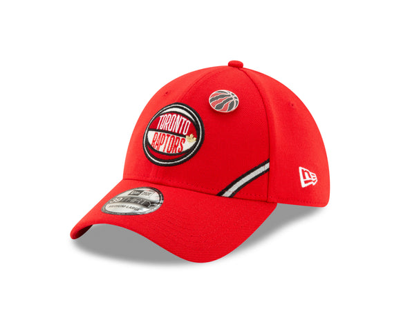 Men's Toronto Raptors New Era Red 2019 NBA Draft Official On Court Collection 39Thirty Flex Fit Hat
