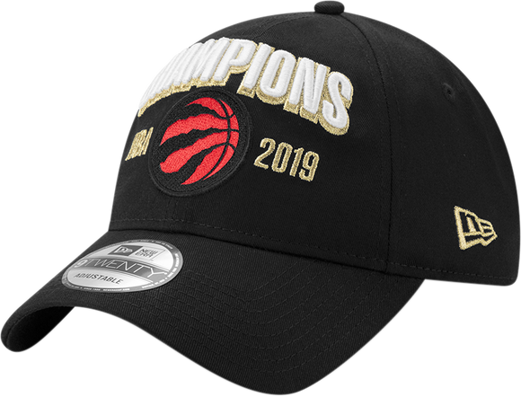 Men's Toronto Raptors New Era Black 2019 NBA Finals Champions Locker Room 9Twenty Adjustable Buckle Hat - Bleacher Bum Collectibles, Toronto Blue Jays, NHL , MLB, Toronto Maple Leafs, Hat, Cap, Jersey, Hoodie, T Shirt, NFL, NBA, Toronto Raptors