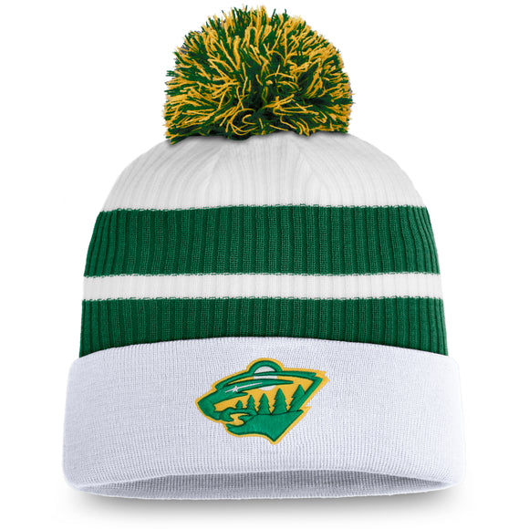 Men's Minnesota Wild Fanatics Branded Special Edition Pom Cuffed Toque Knit Hat