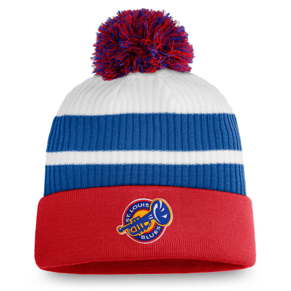 Men's St Louis Blues Fanatics Branded Special Edition Pom Cuffed Toque Knit Hat