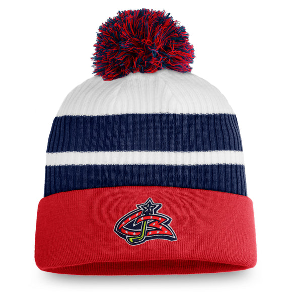 Men's Columbus Blue Jackets Fanatics Branded Special Edition Pom Cuffed Toque Knit Hat