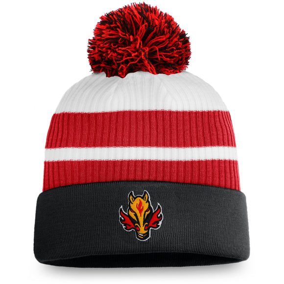 Men's Calgary Flames Fanatics Branded Special Edition Pom Cuffed Toque Knit Hat