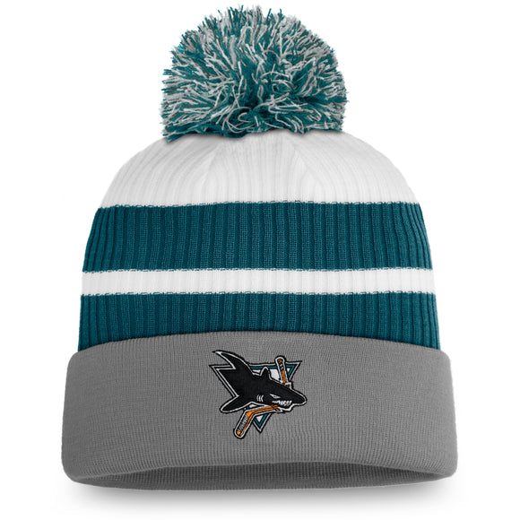 Men's San Jose Sharks Fanatics Branded Special Edition Pom Cuffed Toque Knit Hat