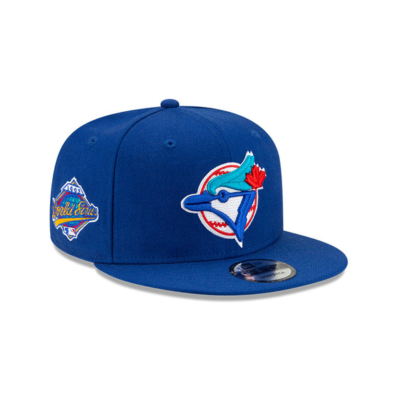 Men's Toronto Blue Jays New Era Royal Cooperstown Collection 1993 World Series Logo 9FIFTY Green Paisley Under Bill Snapback Hat