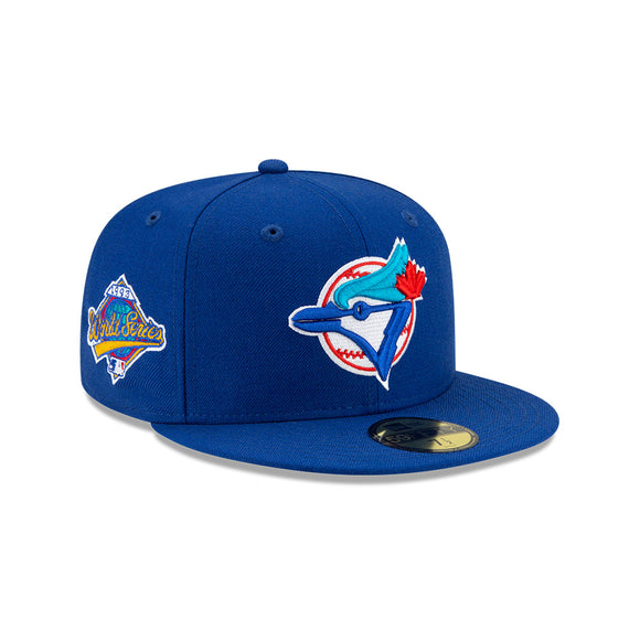 Men's Toronto Blue Jays New Era Royal Cooperstown Collection 1993 World Series Logo 59FIFTY Green Paisley Underbill Fitted Hat