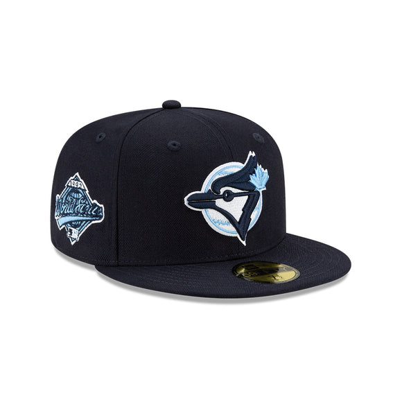 Men's Toronto Blue Jays New Era Navy Cooperstown Collection 1993 World Series Logo 59FIFTY Blue Paisley Underbill Fitted Hat