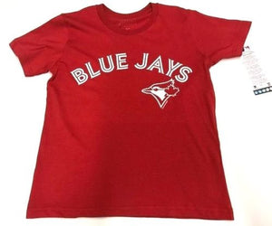 Youth Toronto Blue Jays MLB Baseball Alternate Red Round Neck T Shirt - Bleacher Bum Collectibles, Toronto Blue Jays, NHL , MLB, Toronto Maple Leafs, Hat, Cap, Jersey, Hoodie, T Shirt, NFL, NBA, Toronto Raptors