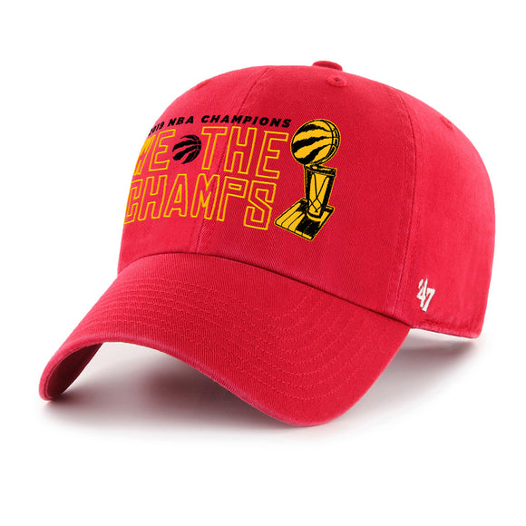 Men's Toronto Raptors 47 Brand Red 2019 NBA Finals Champions We The Champs MVP Clean Up Adjustable Hat Cap - Bleacher Bum Collectibles, Toronto Blue Jays, NHL , MLB, Toronto Maple Leafs, Hat, Cap, Jersey, Hoodie, T Shirt, NFL, NBA, Toronto Raptors