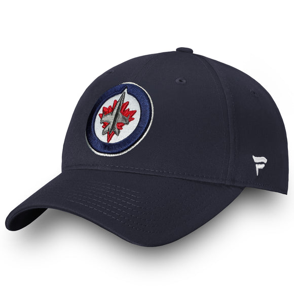 Men's Winnipeg Jets Basic Fan Structured Adjustable Strap One Size Fits Most Hat Cap - Bleacher Bum Collectibles, Toronto Blue Jays, NHL , MLB, Toronto Maple Leafs, Hat, Cap, Jersey, Hoodie, T Shirt, NFL, NBA, Toronto Raptors