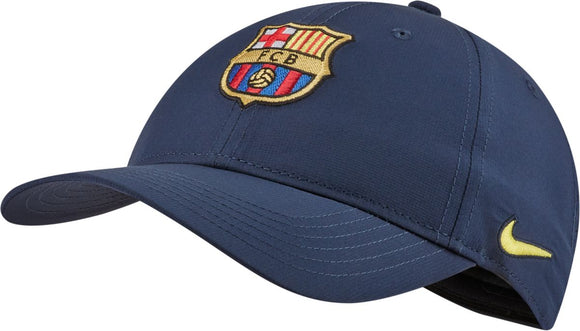 Barcelona F.C. Soccer Football Legacy 91 Nike Navy Blue Adjustable Hat - Bleacher Bum Collectibles, Toronto Blue Jays, NHL , MLB, Toronto Maple Leafs, Hat, Cap, Jersey, Hoodie, T Shirt, NFL, NBA, Toronto Raptors