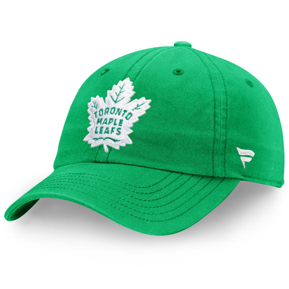 Men's Toronto Maple Leafs Fanatics Branded St Patricks Day Green Adjustable Hat - Bleacher Bum Collectibles, Toronto Blue Jays, NHL , MLB, Toronto Maple Leafs, Hat, Cap, Jersey, Hoodie, T Shirt, NFL, NBA, Toronto Raptors