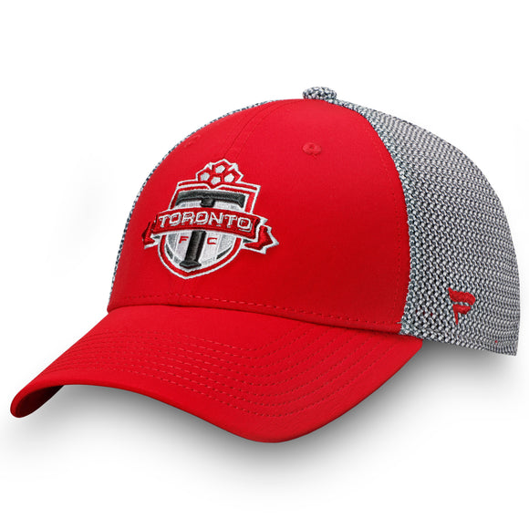 Men's Toronto FC Fanatics Branded Red  Grey Versalux Stretch Flex Fit Hat - Bleacher Bum Collectibles, Toronto Blue Jays, NHL , MLB, Toronto Maple Leafs, Hat, Cap, Jersey, Hoodie, T Shirt, NFL, NBA, Toronto Raptors