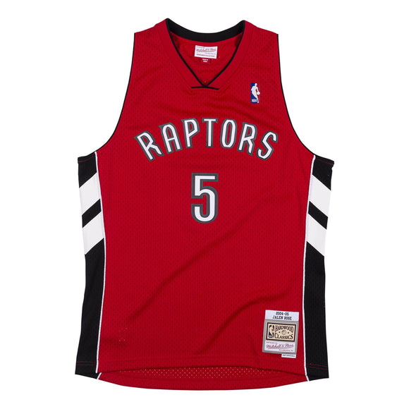 Men's Toronto Raptors Jalen Rose Mitchell & Ness Red 2004-05 Hardwood Classics Swingman Jersey