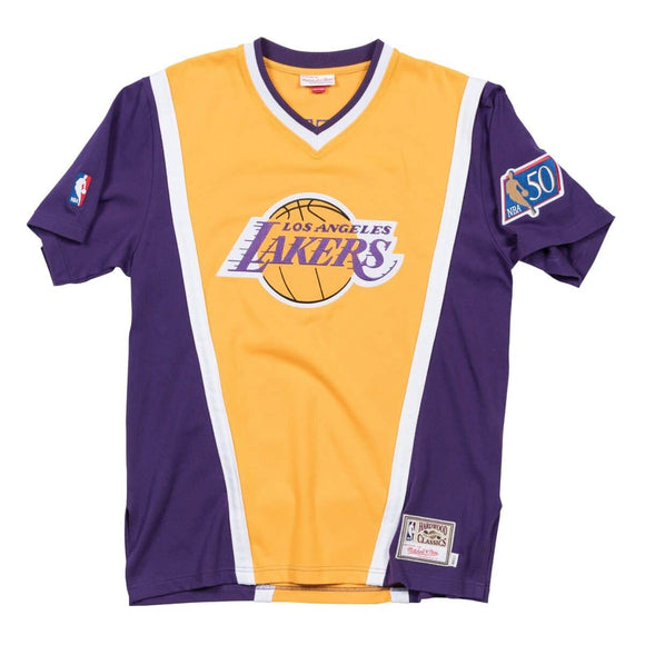 Men's Los Angeles Lakers 1996-97 Authentic Shooting Shirt Mitchell & Ness Hardwood Classics Jersey