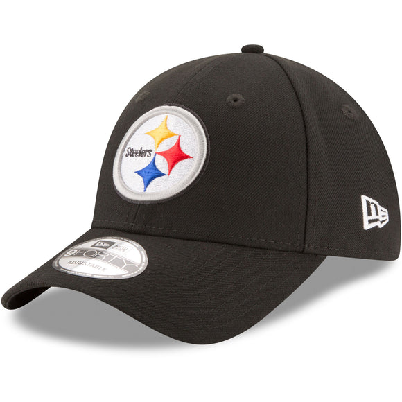 Pittsburgh Steelers New Era Men's Black The League 9Forty NFL Football Adjustable Hat