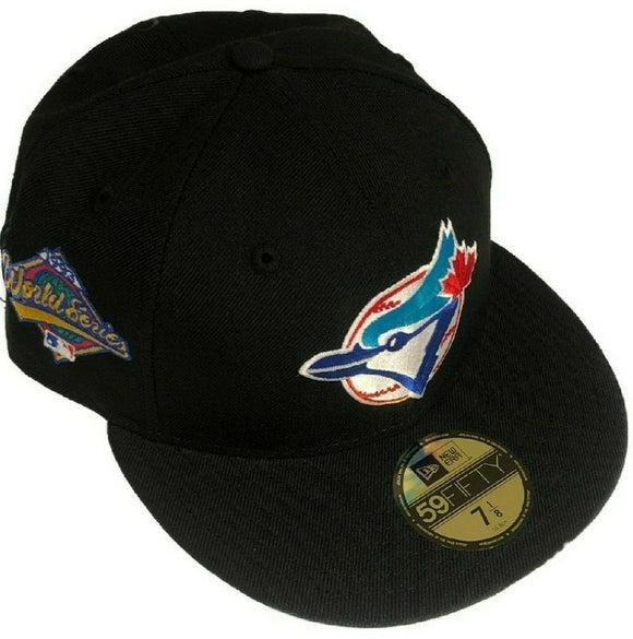 Toronto Blue Jays New Era 59fifty 1993 World Series Patch Fitted Custom Black Hat Cap