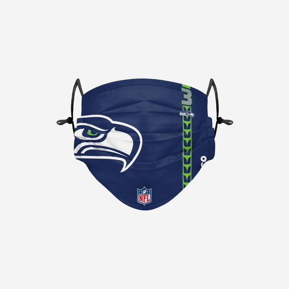 Men's Seattle Seahawks NFL Football Foco Russell Wilson On-Field Sideline Logo Face Cover