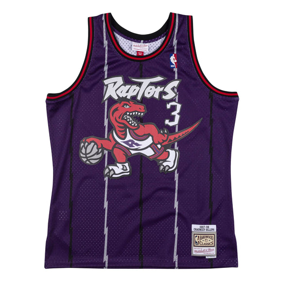 Men's Toronto Raptors Chauncey Billups Mitchell & Ness Purple 1997-98 Hardwood Classics Swingman Jersey