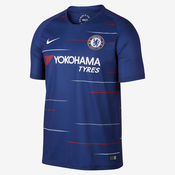 Men's 2018/19 Team Chelsea Football Club Blue Home Stadium Jersey - Bleacher Bum Collectibles, Toronto Blue Jays, NHL , MLB, Toronto Maple Leafs, Hat, Cap, Jersey, Hoodie, T Shirt, NFL, NBA, Toronto Raptors