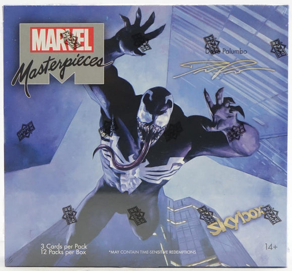 2020 Marvel Masterpieces featuring Dave Palumbo Upper Deck Hobby Box 12 Packs Per Box 3 Cards Per Pack