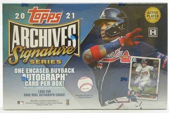 2021 Topps Archives Signature Series Baseball Hobby Box Active Players Edition