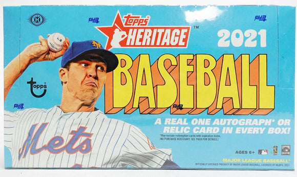 2021 Topps Heritage Baseball Hobby Box 24 Packs Per Box, 9 Cards Per Pack