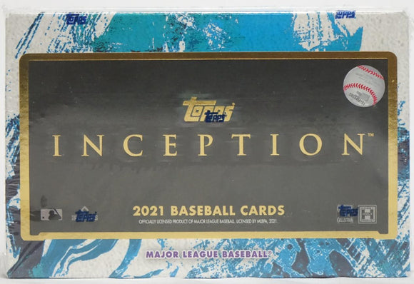 2021 Topps Inception Baseball Hobby Box 1 Pack Per Box, 7 Cards Per Pack