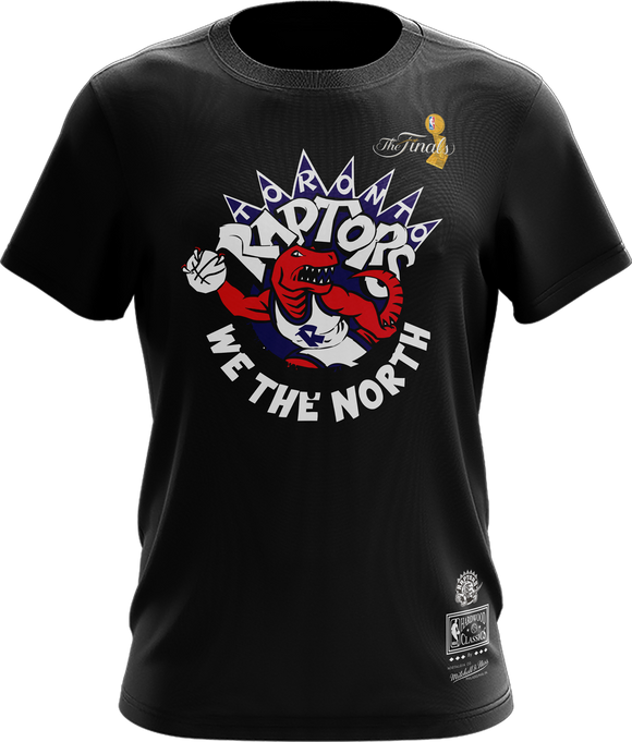 Men's Toronto Raptors Mitchell & Ness Since 95 Retro Logo The Finals Hardwood Classics Retro Logo T-Shirt