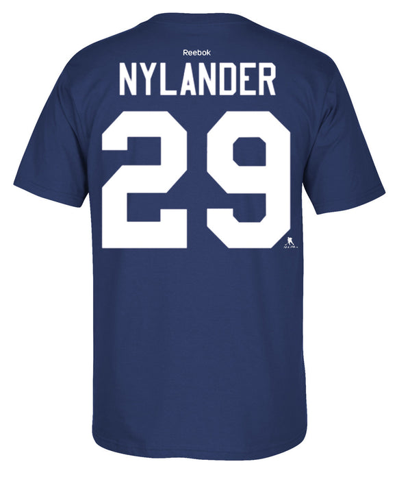 Youth Toronto Maple Leafs William Nylander Reebok Blue Home Name & Number T-Shirt - Bleacher Bum Collectibles, Toronto Blue Jays, NHL , MLB, Toronto Maple Leafs, Hat, Cap, Jersey, Hoodie, T Shirt, NFL, NBA, Toronto Raptors