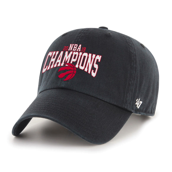 Men's Toronto Raptors 47 Brand Black 2019 NBA Finals Champions MVP Clean Up Adjustable Hat Cap