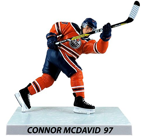 NHL Connor McDavid 6-Inch Player Replica Action Figure - Edmonton Oilers - Bleacher Bum Collectibles, Toronto Blue Jays, NHL , MLB, Toronto Maple Leafs, Hat, Cap, Jersey, Hoodie, T Shirt, NFL, NBA, Toronto Raptors
