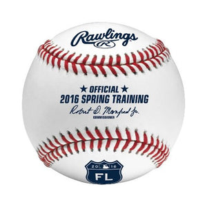 Rawlings Sporting Goods ROMLBST16-R 2016 Official MLB Spring Training Baseball, White, Official Size - Bleacher Bum Collectibles, Toronto Blue Jays, NHL , MLB, Toronto Maple Leafs, Hat, Cap, Jersey, Hoodie, T Shirt, NFL, NBA, Toronto Raptors