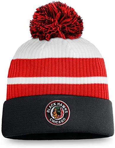 Men's Chicago Blackhawks Fanatics Branded Special Edition Pom Cuffed Toque Knit Hat