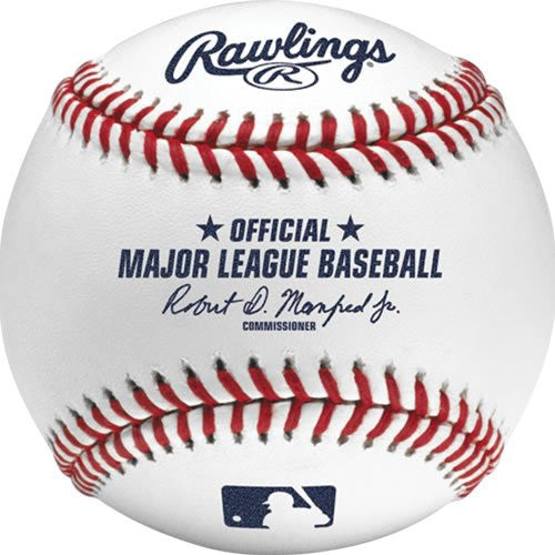 Rawlings Official On Field MLB Baseball ROMLB Robert D Mansfred Jr Used by All Teams - Bleacher Bum Collectibles, Toronto Blue Jays, NHL , MLB, Toronto Maple Leafs, Hat, Cap, Jersey, Hoodie, T Shirt, NFL, NBA, Toronto Raptors