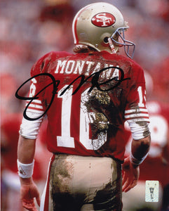 Joe Montana San Francisco 49ers Signed Autographed 8x10 Photo Football NFL - Bleacher Bum Collectibles, Toronto Blue Jays, NHL , MLB, Toronto Maple Leafs, Hat, Cap, Jersey, Hoodie, T Shirt, NFL, NBA, Toronto Raptors