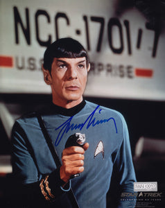 Star Trek Signed 8x10 Picture Actor Leonard Nimoy Captain Spock Photo Autograph - Bleacher Bum Collectibles, Toronto Blue Jays, NHL , MLB, Toronto Maple Leafs, Hat, Cap, Jersey, Hoodie, T Shirt, NFL, NBA, Toronto Raptors
