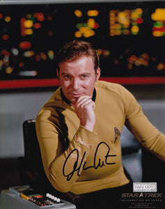 Star Trek Signed 8x10 Picture Actor William Shatner Captain James T Kirk Photo - Bleacher Bum Collectibles, Toronto Blue Jays, NHL , MLB, Toronto Maple Leafs, Hat, Cap, Jersey, Hoodie, T Shirt, NFL, NBA, Toronto Raptors