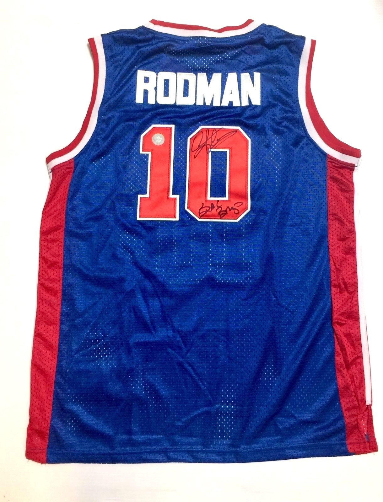 size 40 da904 93ac1 Detroit Pistons Dennis Rodman Signed NBA Basketball Autograph adidas Jersey  with BAD BOYS Inscription