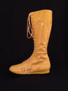Hulk Hogan Signed Boot WWE Wrestling Legend Autographed Comes with COA and Hologram Sticker - Bleacher Bum Collectibles, Toronto Blue Jays, NHL , MLB, Toronto Maple Leafs, Hat, Cap, Jersey, Hoodie, T Shirt, NFL, NBA, Toronto Raptors