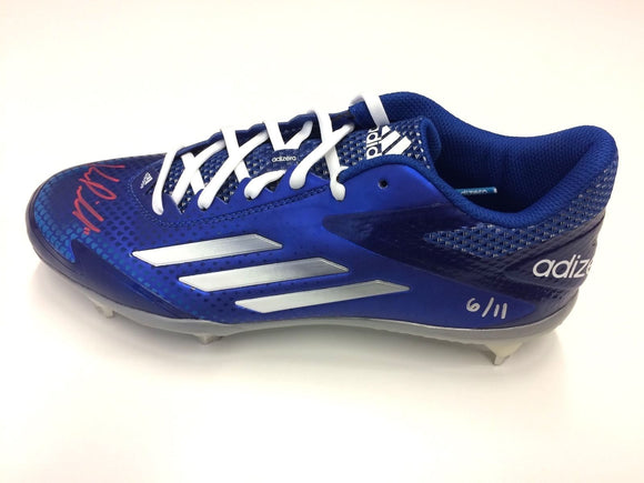 Kevin Pillar Toronto Blue Jays Signed Autographed Limited Edition adidas Cleat Numbered 6/11 - Bleacher Bum Collectibles, Toronto Blue Jays, NHL , MLB, Toronto Maple Leafs, Hat, Cap, Jersey, Hoodie, T Shirt, NFL, NBA, Toronto Raptors