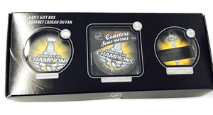 Pittsburgh Penguins Sher-Wood Fan Stanley Cup Champions Hockey Puck Gift Box - Bleacher Bum Collectibles, Toronto Blue Jays, NHL , MLB, Toronto Maple Leafs, Hat, Cap, Jersey, Hoodie, T Shirt, NFL, NBA, Toronto Raptors