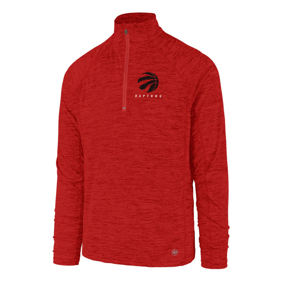Men's Toronto Raptors NBA Basketball Impact 1/4 Zip Pullover Red Long Sleeves Top - Bleacher Bum Collectibles, Toronto Blue Jays, NHL , MLB, Toronto Maple Leafs, Hat, Cap, Jersey, Hoodie, T Shirt, NFL, NBA, Toronto Raptors