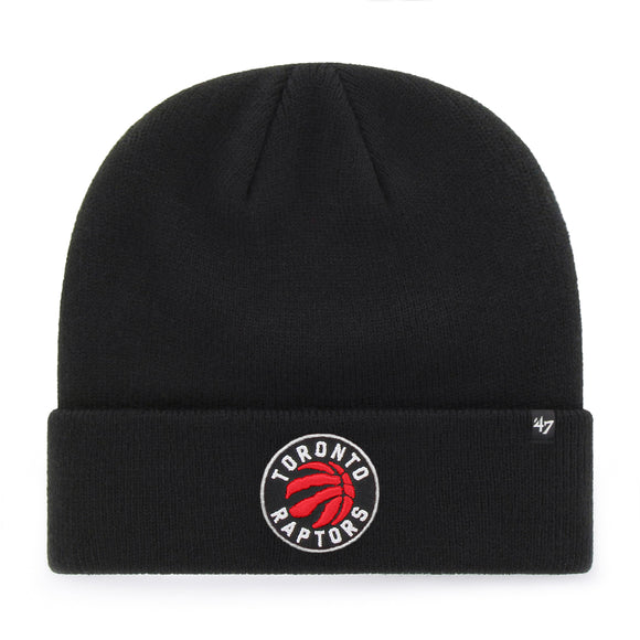Men's Toronto Raptors NBA Raised Cuff Team Colour Knit Beanie Toque OSFM