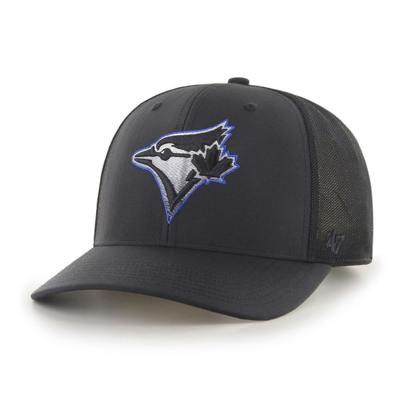 Men's Toronto Blue Jays '47 Volcanic Black Blue MLB Baseball MVP Snapback Hat