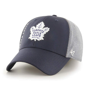 Men's Toronto Maple Leafs Wycliff Grey Navy Cap Hat Flex Fit - Multiple Sizes