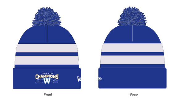Men's New Era Winnipeg Blue Bombers 2019 107th Grey Cup Champions Pom Toque Beanie Knit - Bleacher Bum Collectibles, Toronto Blue Jays, NHL , MLB, Toronto Maple Leafs, Hat, Cap, Jersey, Hoodie, T Shirt, NFL, NBA, Toronto Raptors