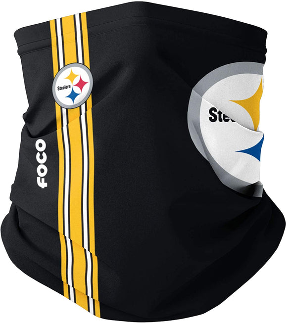 Pittsburgh Steelers NFL Football Adult On-Field Sideline Gaiter Scarf Face Covering